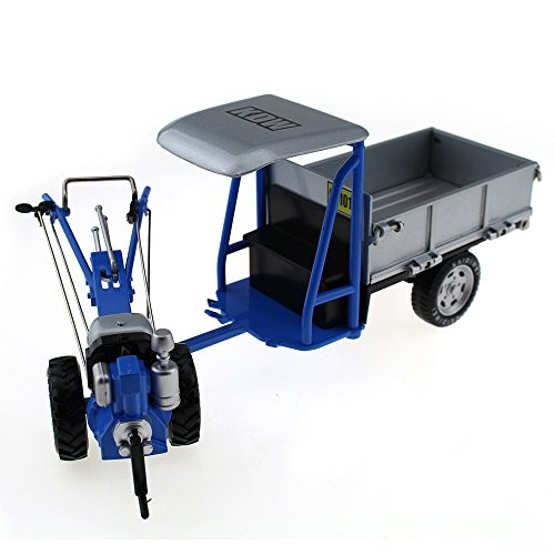 Tipmant Zinc Alloy Die-cast Vehicle Model Toy Engineering Hand Walking Tractor Truck Car High Simulation Kids Gift 1 16 – Blue & Silver