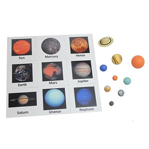 Curious Minds Busy Bags Solar System Match – Space and Planets Matching to Cards Learning Toy Figurines Nomenclature Science Work
