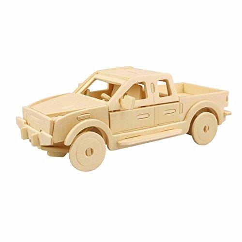 3D Wooden Puzzle Building Kit Pickup Truck Car Model Wood Best Gift for Kids 23-pcs Pickup Truck