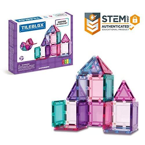 Tileblox Inspire 20 Piece Set Magnetic Building Blocks Educational Tiles Kit Construction STEM Toy