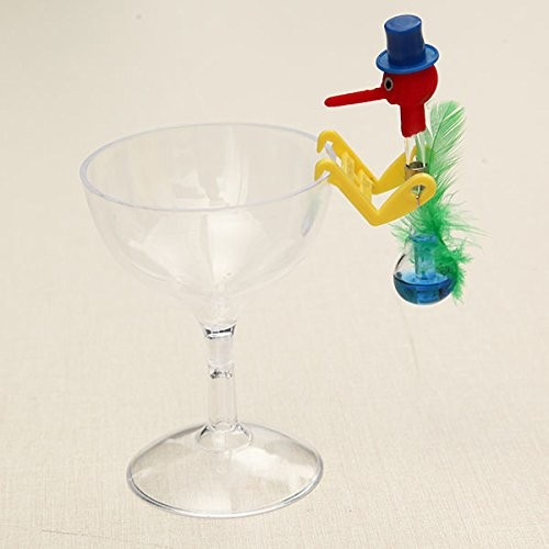 New Brand Name BangBang Novelty Dippy Drinking Bird with Plastic Glass