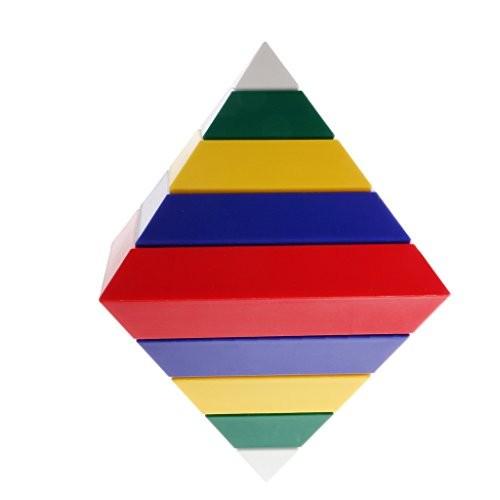 MonkeyJack 15 Pieces Pyramid Changeable Building Blocks Starter Activity Kit Kids Toys Gift