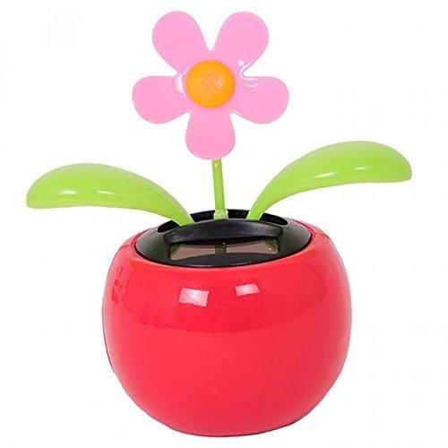 Enshey 1 pcs Solar Powered Dancing Flower Sunflower Car Decor Happy Dashboard Office Desk Home The Pot Display