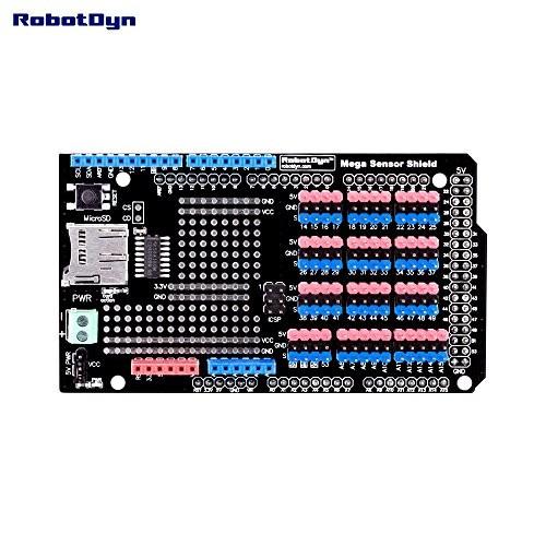 RobotDyn – Mega Data Logger & Sensor Shield for Arduino 2560 with SD-Card Reader Writer Module Assembled