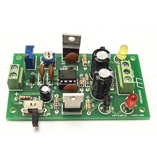 Electronix Express DIY Dual Rail Variable DC Power Supply Soldering Kit Intermediate Level Single Range 3V to 32V + – 15V 16V