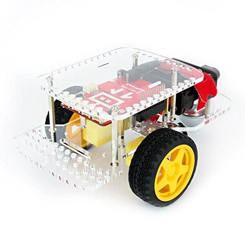 Dexter Industries GoPiGo Base Kit from DIY Robot Car for Robotics and STEM Education Raspberry Pi Compatible Learn to Code in Blockly or Python
