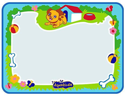 Aquadoodle Little Puppy Water Doodle Mat 48 x 36 cm Mess Free Colouring Baby Educational Toy for Toddlers and Children Suitable Babies Aged 12 Months+