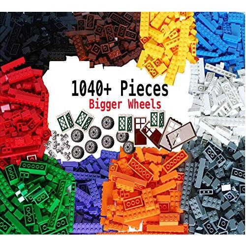 dreambuilderToy Building Bricks 1100 Pieces Set 1000 Basic Blocks in 10 Popular Colors100 Bonus Fun Shapes Includes Small Figures Wheels Doors Windows Compatible to All Major Brands