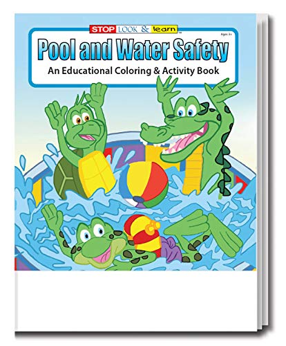 25 Pack Pool And Water Safety Coloring Books For Kids - Lot Wholesale In  Bulk 16 Fun-Filled Sheets Games - Educational Toys Planet