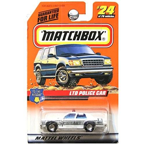 Matchbox 1998 to The Rescue Ford LTD Police Car Sheriff White Black # 24