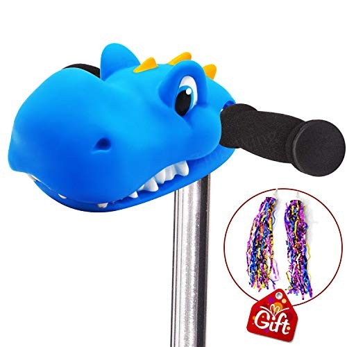 Scooter Accessories Blue Dinosaur Head Toy Gifts for Toddlers Kids Girls Decoration All of