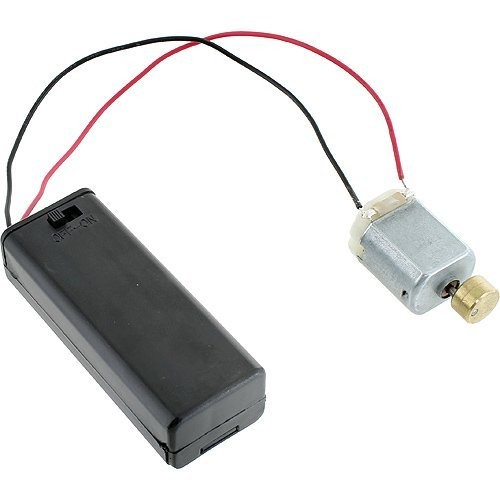 Vibration DC Motor + AA Battery Holder w Switch