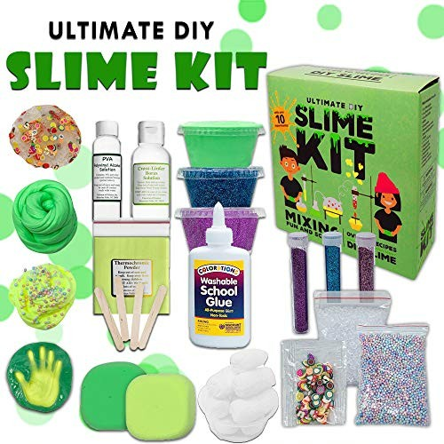 Baby Mushroom Ultimate Slime Kit – 10 Slimy Science Experiments Fun and Educational Made in USA