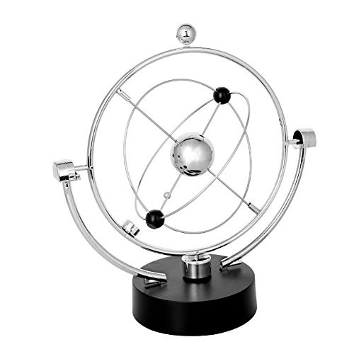 PROW Simulation Milky Way Annularity Model Electronic Perpetual Motion Toy Dynamic Balancing Instrument Best Office Desktop Decoration Silver