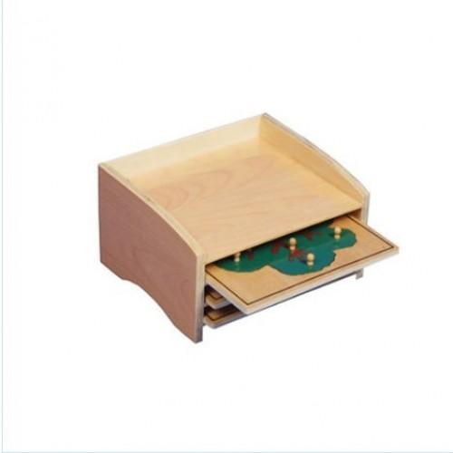 Adena Montessori Materials Botany Puzzle Cabinet 3 Puzzles Included