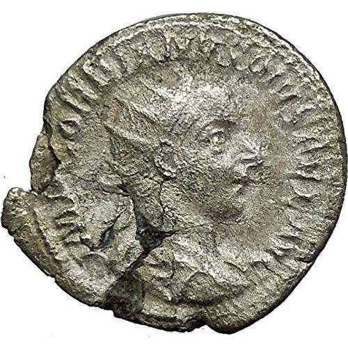 240 IT GORDIAN III w globe & spear 240AD Authentic Ancie coin Good