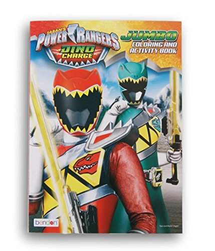 Sabans Power Rangers Dino Charge Jumbo Coloring and Activity Book