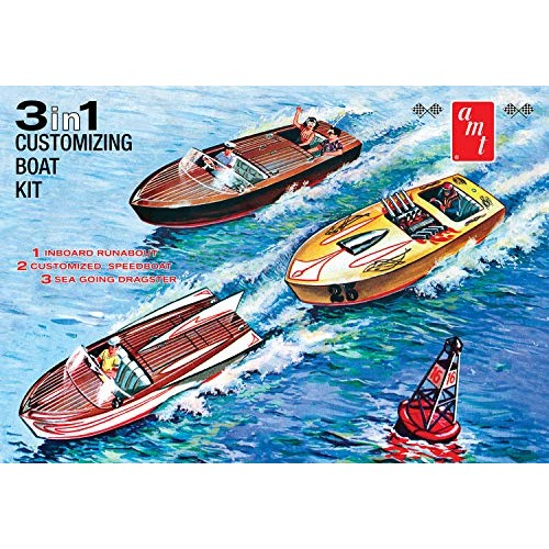 AMT Customizing Boat 3-in-1 1 25 Scale Model Kit
