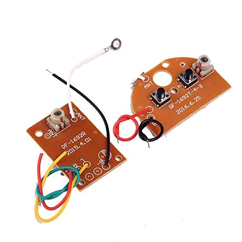 Icstation Simple 2 Channel Radio RC Transmitter Receiver Kit for DIY Remote Control Boat Car Projects