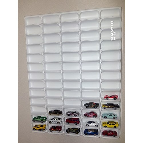 Mascar Ultima Hotwheels Matchbox 1/64 Scale Display case White with Clear Snap-On Dust Cover