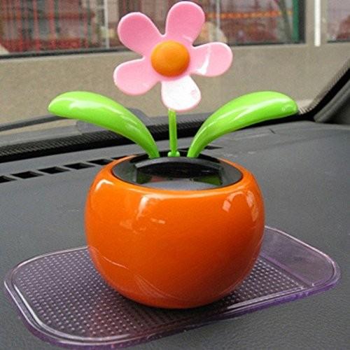 Highpot New Solar Powered Swinging Dancing Flower Animated Dancer Toy Car Decoration random