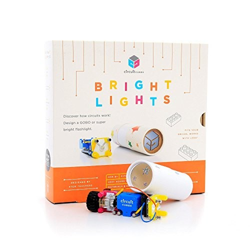 Circuit Cubes Bright Lights STEM Toy Lego Compatible Electronic Building Blocks Construction Kit Ultra LED Projects