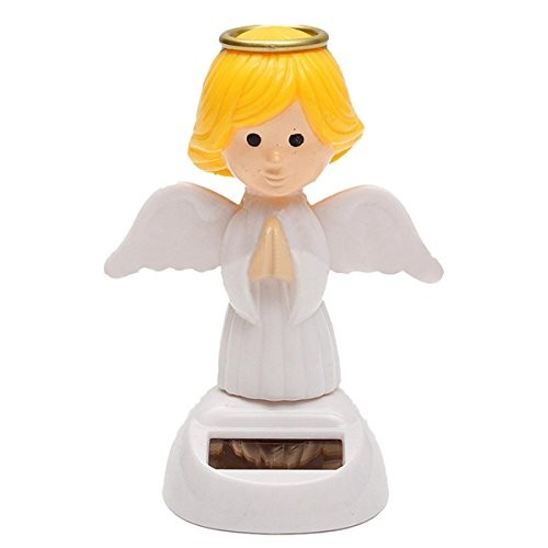 BephaMart Solar Powered Bobble Head Moving Wings Dancing Angel