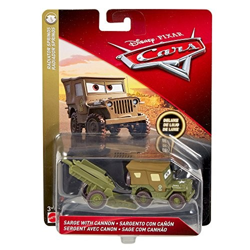 Disney Pixar Cars Sarge with Cannon Die-cast Vehicle