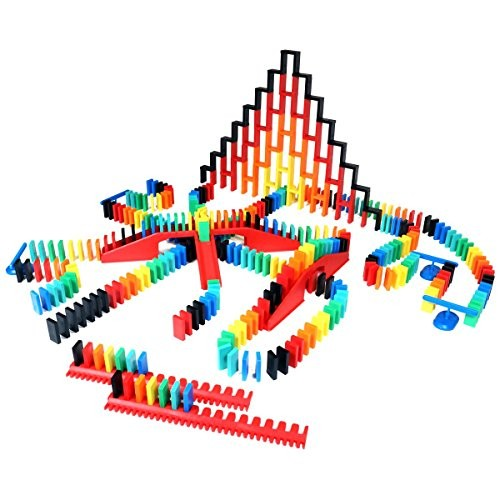 Bulk Dominoes 410pcs Pro-Scale Premium Stacking & Toppling Domino kit Chain Reaction STEAM Building Toy Set
