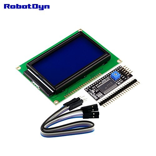 RobotDyn – I2C Graphic LCD 128×64 Display with Interface Connection 2-Wire Blue Background for Projects Arduino AVR STM32 ARM Raspberry PI