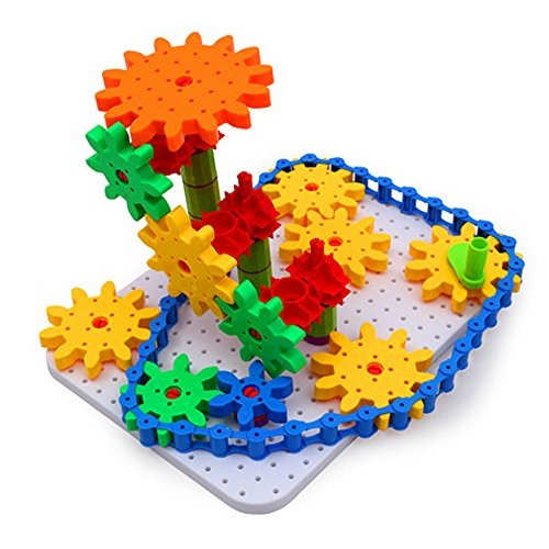 Bo-Toys Deluxe Gears Building Set Learning Blocks Spinning 170 pcs