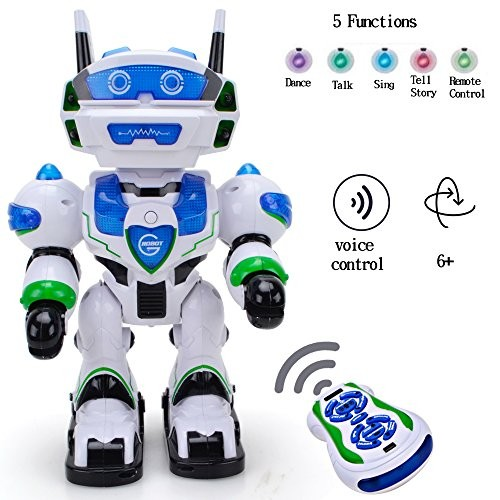 WISHTIME Voice RC Command Electronic Robot New Recharge Remote Control Intellegent Allen Singing Dancing Chatting Telling Story 3+ Boys Girls