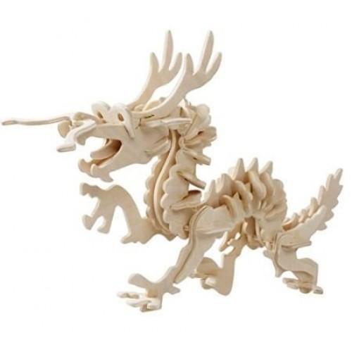 Dragon Loong Wooden Skeleton Model Kit