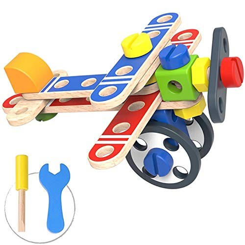 Pidoko Kids Take Apart Toys 48 Pcs – STEM Learning Building Toy For Boys & Girls Toddlers Age 3 and up Airplane
