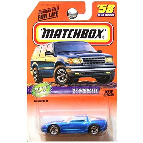 Matchbox 1998 Super Cars 1997 '97 Chevrolet Chevy Corvette Blue #58