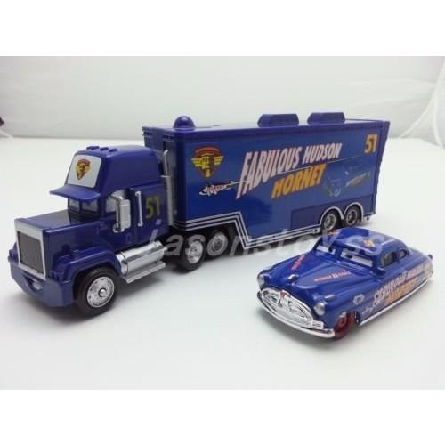 Hand Mate Car Toys Pixar 1:55 Scale Diecast No51 Mack Racer's Truck & Fabulous