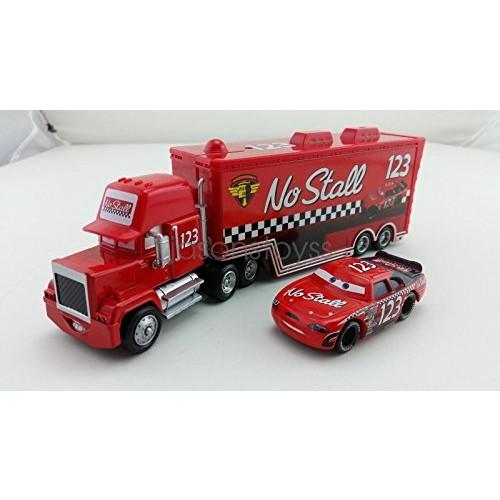 Hand Mate Car Toys Pixar 1:55 Scale Diecast No123 Mack Racer's Truck & No