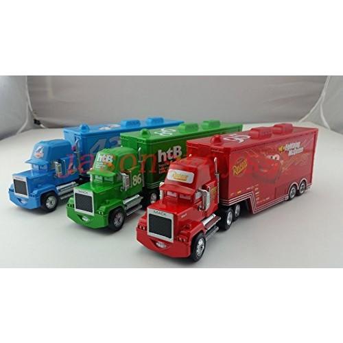 Hand Mate Car Toys Pixar 1:55 Scale Diecast Mack Lightning McQueen & Chick Hicks