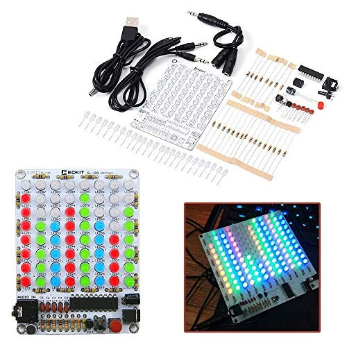 IS Icstation 8×8 Color LED Sound Audio Spectrum Analyzer Level Indicator Kit DIY Electoronics Soldering Practice Set