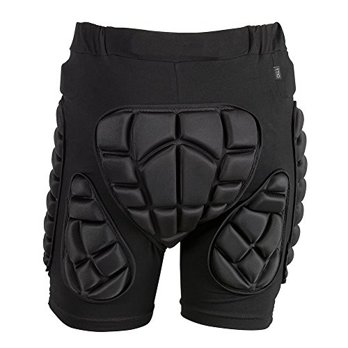 TTIO Padded Shorts EVA Protective Gear Soft Breathable Lightweight Sportswear Black