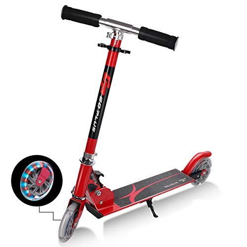 Goplus Folding Kick Scooter for Kids Deluxe Aluminum 2 Wheels Glider Adjustable Height with