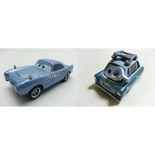 Hand Mate Cars Toys Pixar 1:55 Scale Diecast Finn Mcmissile & 2 Professor Z