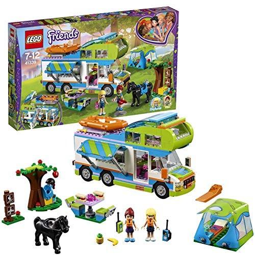 LEGO 41339 Friends Heartlake Mias Camper Van Playset Mia and Stephanie Mini Dolls Build Play Fun Toys for Kids