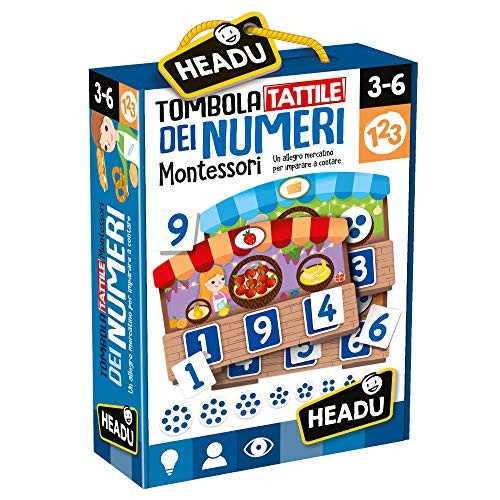 HeaduTombola Montessori Tactile Game of Numbers it20249