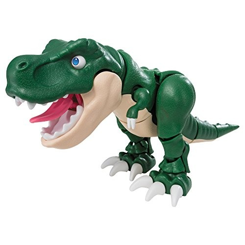 Jurassic Dinosaur Toy Action Figure Model 6×12 inch Construction 100 Assembly Pieces Hard + Soft Plastic All Body Parts Movement Tyrannosaurus Rex Tino – Education Boy Girl Gift Green
