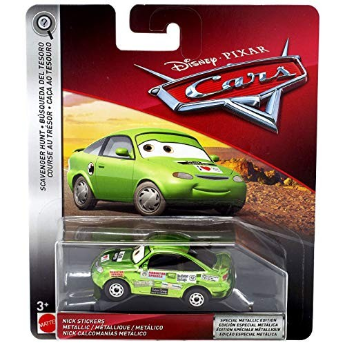 Disney Pixar Cars Metallic Nick Stickers