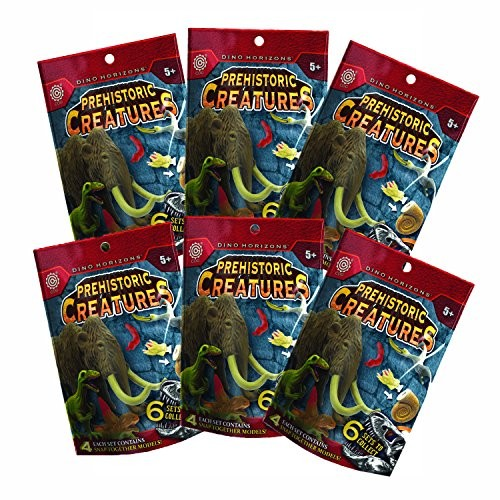TEDCO 24 Prehistoric Life Models – Mammals Early Reptiles Flying Sea Creatures and Dinosaurs