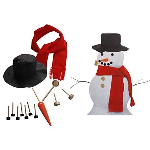 EBTOYS Snowman Kit 13 Pieces Making Building Set Kids Winter Holiday Outdoor Fun Toys Christmas Gift