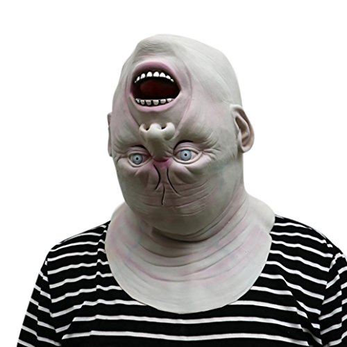 Woshishei 2017 Down Full Head Deluxe Novelty Halloween Scary Costume Party Latex Mask