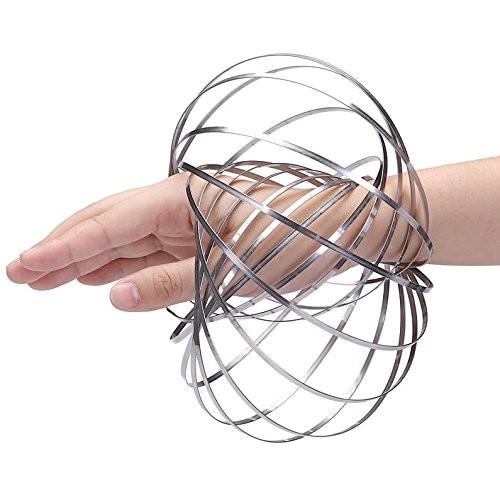 Digital Energy DE Kinetic Educational Spring Toy – Multi Sensory Interactive 3D Shaped Flow Ring